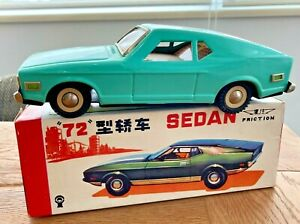 """CHINA MF 198, TIN TOY CAR, FRICTION, """"FORD MUSTANG MACH I"""", 1972, 22cm"""