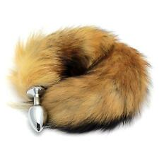 Faux Fox Tail Butt Plug Metal Stainless Steel Anal Jewelry Stopper Adult Sex Toy