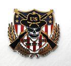 """American Civil War 1861 - 1865 Skull Flag Rifles Fridge Magnet 2.6 """" Made in USA"""