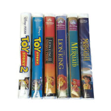 Disney Clamshell Toy Story Lion King The Little Mermaid 1 2 Simba Sea 6 VHS Lot