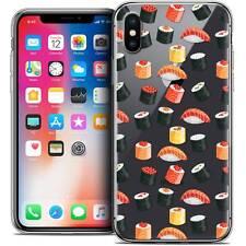 Carcasa Cristal Gel para iPhone X (10) Extra Fina Flexible Foodie Sushi