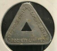 1920 -1930 Australian Cessnock District Co Op Society LTD 1/2 Pint Milk Token