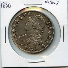 1830 50C Capped Bust Silver Half Dollar. Almost Uncirculated ++. Lot #1559
