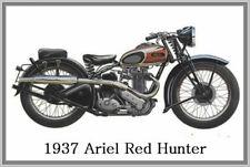 1937 ARIEL RED HUNTER - JUMBO FRIDGE MAGNET - VINTAGE CLASSIC MOTORCYCLE BIKE