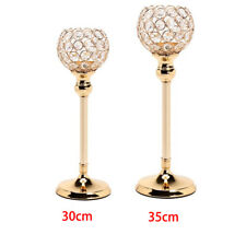 Glitter Crystal Candlesticks Tea Light Pillar Candles Holder Votive Candelabra