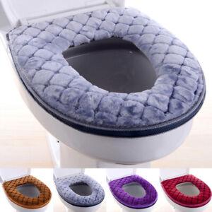 1PC Cushion Toilet Seat Mat Cover Pad Warmer Plush Bathroom Winter Home Supplies