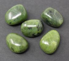"5 Nephrite Jade Tumbled Stones: 20 mm (3/4"") Crystal Healing Reiki Tumble Stone"