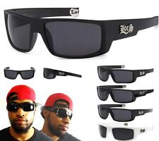 Authentic LOCS Sunglasses Black Gangster Shades Super Dark Cholo Glasses Wrap