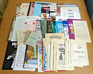 MULTI-LIST SELECTION OF VINTAGE & MODERN BOARD GAME INSTRUCTIONS FREE UK P/P