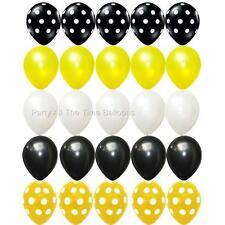 25 PC BUMBLEBEE Black Yellow White Balloon Bouquet Bumble Bee FREE SHIPPING