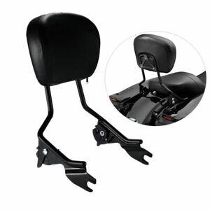 Detachable Passenger Backrest Sissy Bar W/Pad For Harley-Davidson Touring 09-21