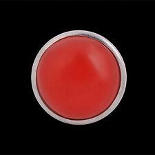 ANDANTE Glas Druckknopf Click Button CHUNK Rubin Rot Bordeaux #4235 + GESCHENK