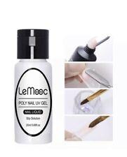 Lemooc poly Gel Slip solution 20ML Poly UV LED Nail Extension liquid Uk