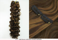 """Recurlable Synthetic Hair CLIP ON IN Extensions 7 pc - Deep Wave 22"""""""