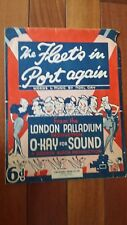 1936 The Fleet's in the Port Again sheet music Noel Gay Cinephonic Dean House