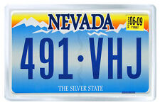 NEVADA USA LICENSE PLATE FRIDGE MAGNET SOUVENIR IMAN NEVERA