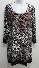 SOMA Live Lounge Wear Leopard Print Soft Scoopneck Tunic Nightgown Pajama sz L