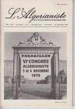 L'Algérianiste - N° 7 - Nouvelle série - Trimestriel - 15 Septembre 1979.