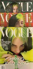 VOGUE Magazine March 2020 Issue BILLIE EILISH Spring Awakening 3 Covers!! BAGGED