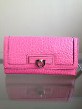 NWT DKNY Town & Country with French Grain Leather Tri-Fold Ladies Wallet - Pink