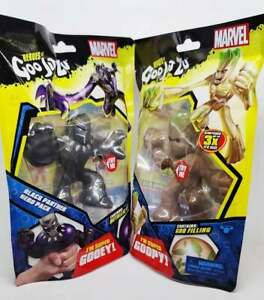 Marvel Heroes of Goo Jit Zu - Black Panther & Groot - BRAND NEW, RARE, FAST SHIP