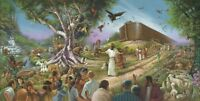"Elfred Lee's The Invitation - Fine Art 17""x34"" Litho Noah's Ark Biblical History"