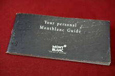 Vintage Personal Mont Blanc Pen Guide w/International Guarantee (12776)