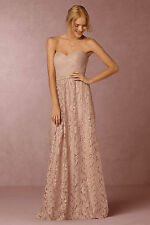ANTHROPOLOGIE - BHLDN Cambria Skirt 4 NWT Blush Waters & Waters Long Lace Skirt