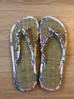 Accessorize Monsoon Seagrass Flip Flops Size S UK 3 4 Amalfi White Pink - New