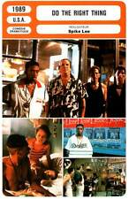 DO THE RIGHT THING - Aiello,Davis,Turturro,Spike Lee (Fiche Cinéma) 1989