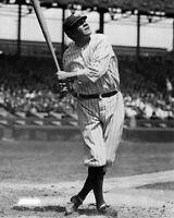 New York Yankees BABE RUTH Glossy 8x10 Photo Baseball Swing Print Poster