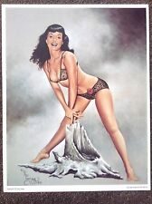 Betty Page PRINT Vintage Pinup Fantasy Art Terry Twigg Erotic Nude Playboy Model
