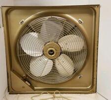 """Vintage Art Deco Window Fan by Frigid 1970s (26 1/2"""" X 26"""" X 8"""")"""