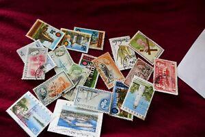 19 Barbados used postage stamps philately postal Caribbean Philatelic