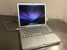 """Vintage 12"""" Apple PowerBook G4 Laptop 1.5 Ghz, 512 Mb Ram, 80 Gb Hdd As Is"""