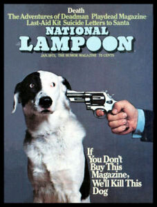 National Lampoon Kill the Dog Magnetic Canvas Print Fridge Magnet 6x8 Large