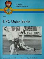 Programm 1988/89 1. FC Lok Leipzig - Union Berlin