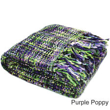 Knitted Weave Throw Blanket Bed Couch Home Decor Classic Rug 127*152cm - 60 off 100 Acrylic Purple Poppy