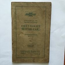 1929 Chevrolet Motor Cars Instructions Operations Manual