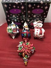 New ListingSet Of 4 Large Christopher Radko Christmas Ornaments W/Boxes