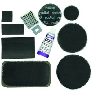 60 PC. AUTO CAR RADIAL TIRE REPAIR INNERTUBE RUBBER HOLE PATCH KIT