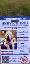 ADA Service Dog Card ID Badge Assistance Animal Badge ESA With QR Code