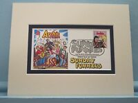 Archie - Comic Strip in the Sunday Funnies & First Day Cover of his own stamp