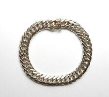 "Vintage 925 Sterling Silver HEAVY CHUNKY FANCY LINK BRACELET 42.1g 8"""