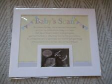 BABY SCAN MOUNT WITH VERSE KEEPSAKE SENTIMENT MEMORY
