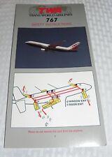 TWA 1011 International Safety Instruction Card 640757