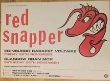 Red Snapper - Rare Gig poster, Edinburgh & Glasgow, Nov 2008