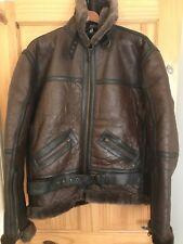 Genuine Sheepskin Leather RAF Bomber Jacket