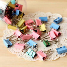 10Pcs 19mm Colored Metal Binder Clip Paper Clips Office Supplies Stationary