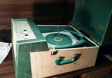Vintage tubed. Webcor Holiday Fonograf Portable Record Player  No. 1753-1